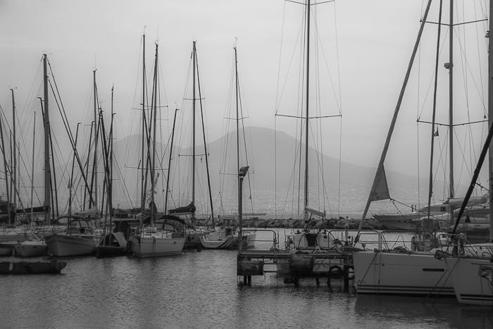 Naples, Italy, Marina, Vesuvius