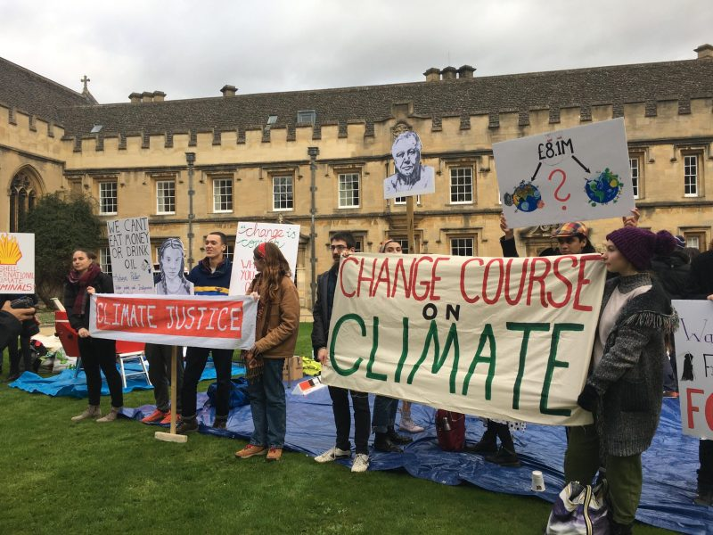 Climate change protesters at St. John's