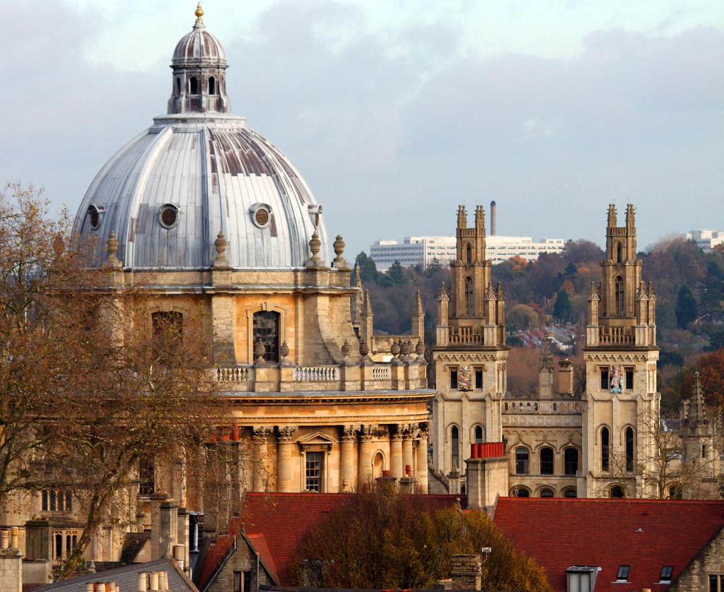 The Radcliffe Camera seen from Carfax Tower