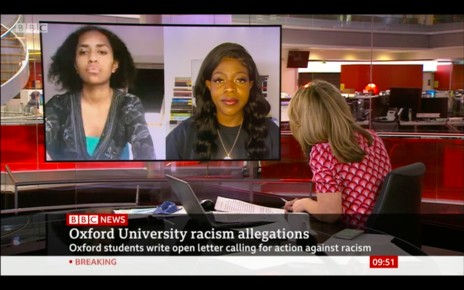 Melanie and Kesaia on BBC News