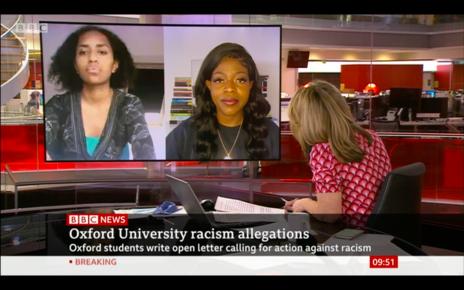 Melanie and Kesaia on BBC News
