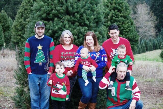 Ugly Christmas Sweater Photoshoot The Ox Mama