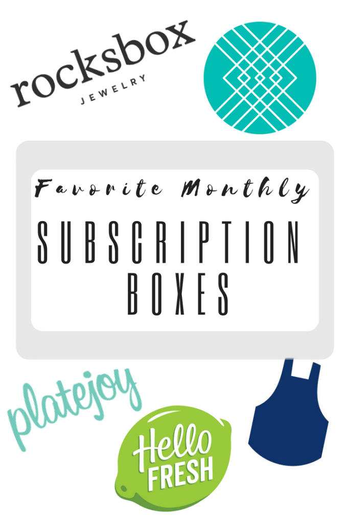 FAVORITE MONTHLY SUBSCRIPTION BOXES | Review | Hello Fresh - Blue Apron - Rocksbox - Stitch Fix - Platejoy|