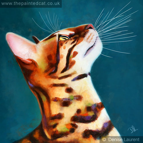 Whats Up Bengal Cat Painting
