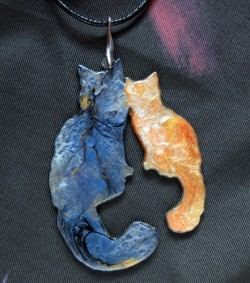 Maine Coon Necklace - Blue and Tyzer