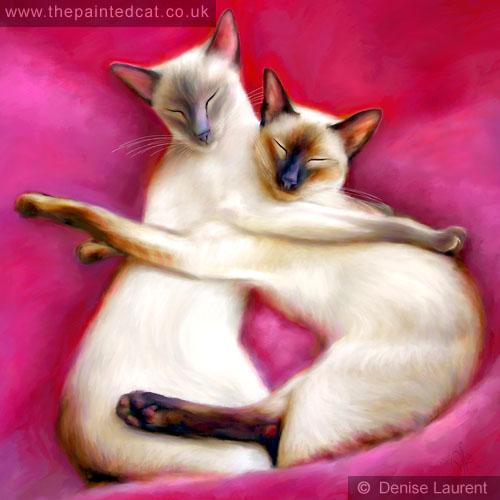 Sugar Plum Fairies Siamese Cat Painting