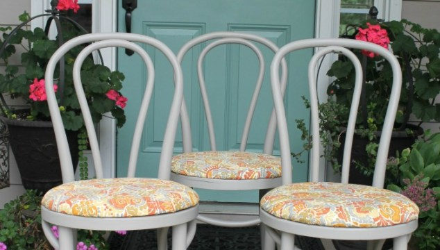 Bentwood Kitchen Chairs Makeover for Dwell With Dignity Atlanta- Part 1