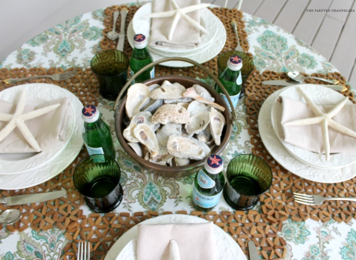 oyster-shells-table-setting-copper-pot-the-painted-chandelier