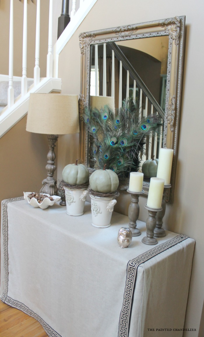 Fall home tours 2014 part 3 for Painted foyer tables
