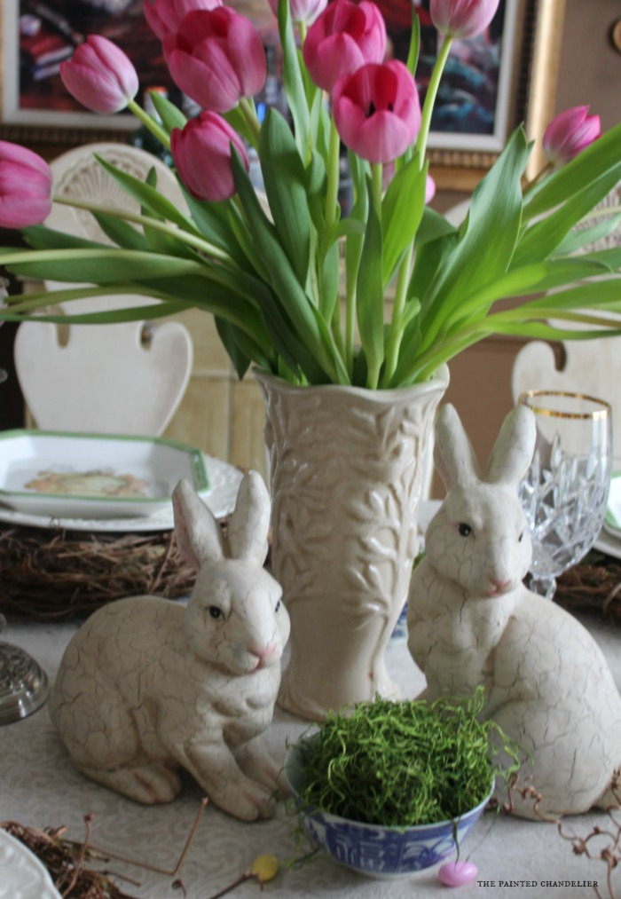 closeup-rabbits-and-moss-in-blue-bowls