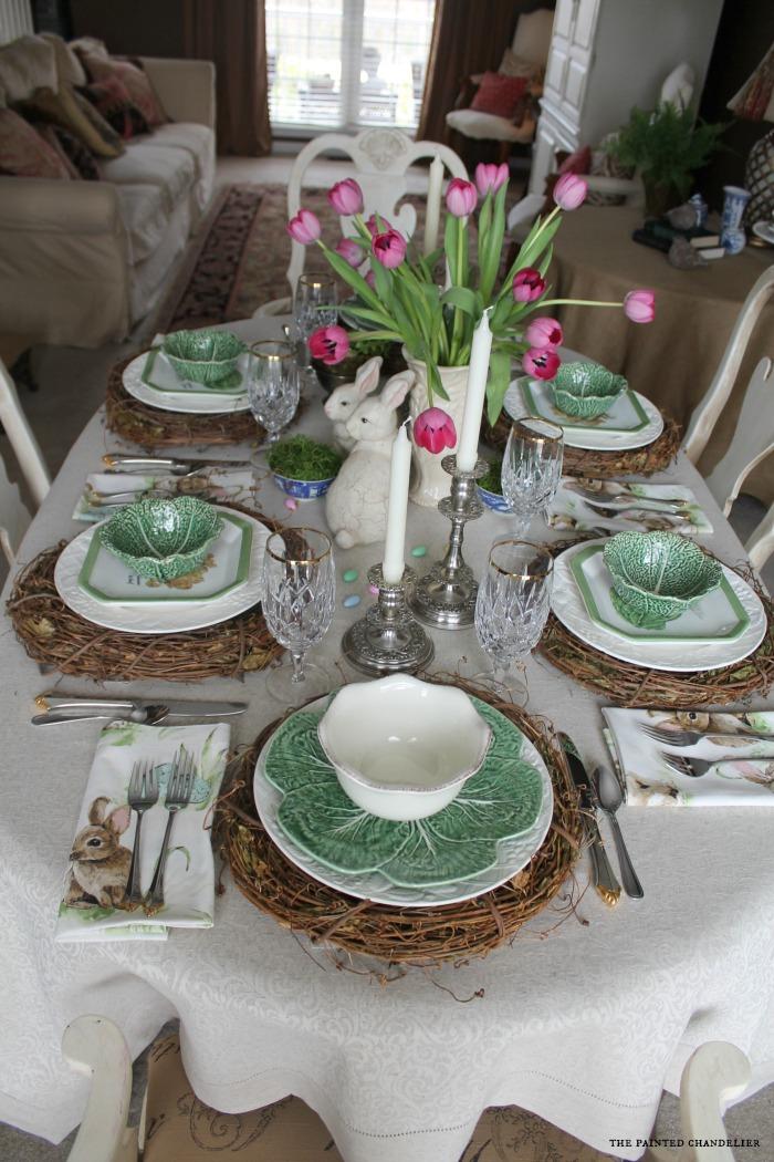 Pottery Barn Napkins Inspired Easter Table