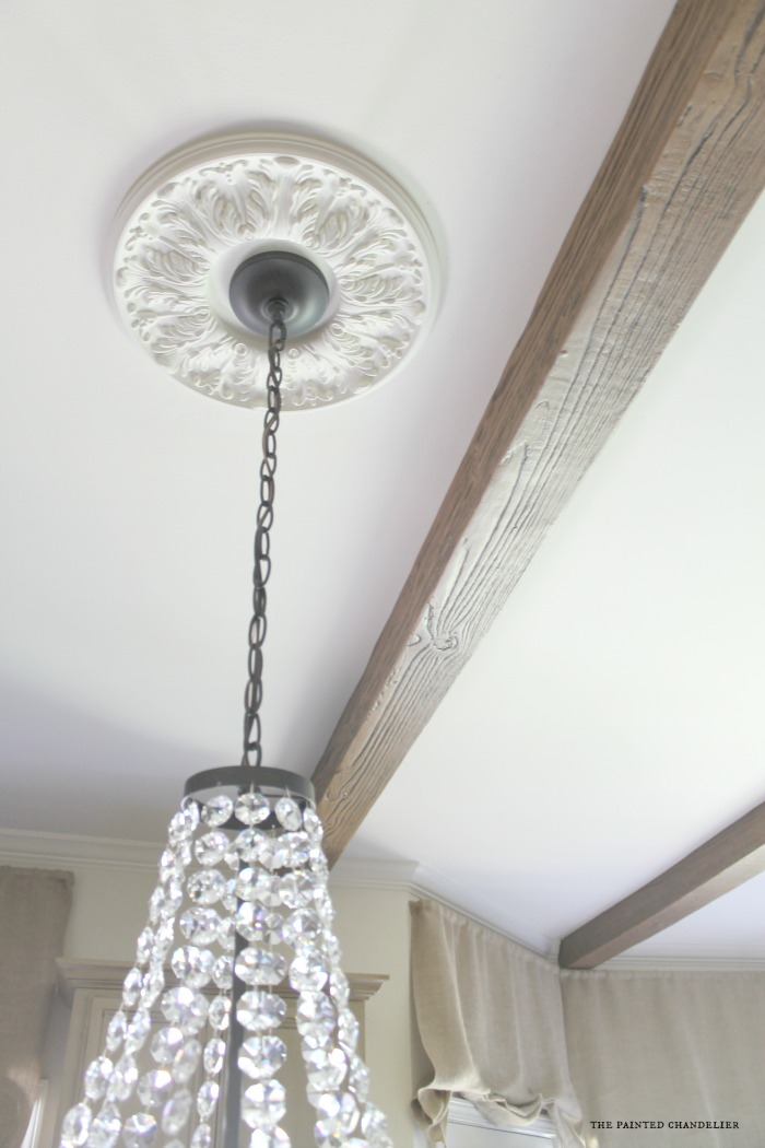 medallion-ballards-chandelier-az-faux-beams