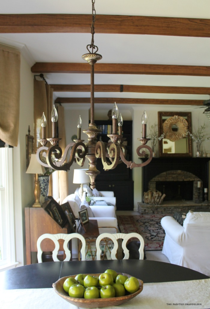 new-chandelier-and-az-faux-beams