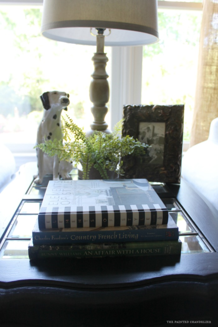 table-vignette-with-dog-in-family-room