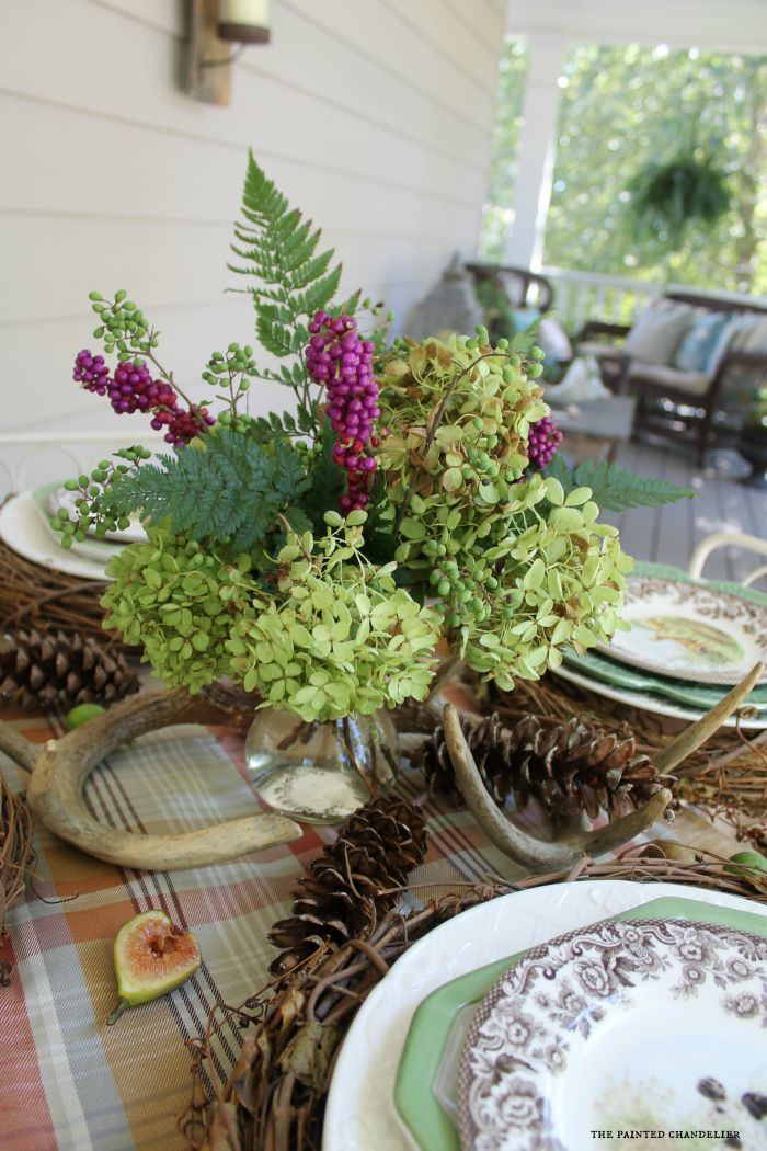 spring leaf table 2 different fall table settings on a southern porch