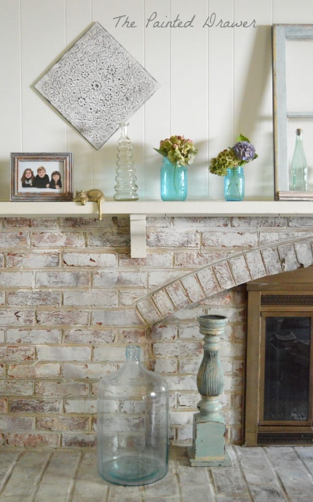 Painting a Stone Fireplace....Finally, I Did It ...