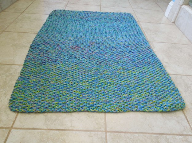 Cotton Bath Mat Rug Knitting Pattern
