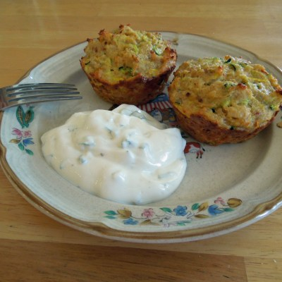 Spicy Zucchini Cakes & Green Onion Dressing