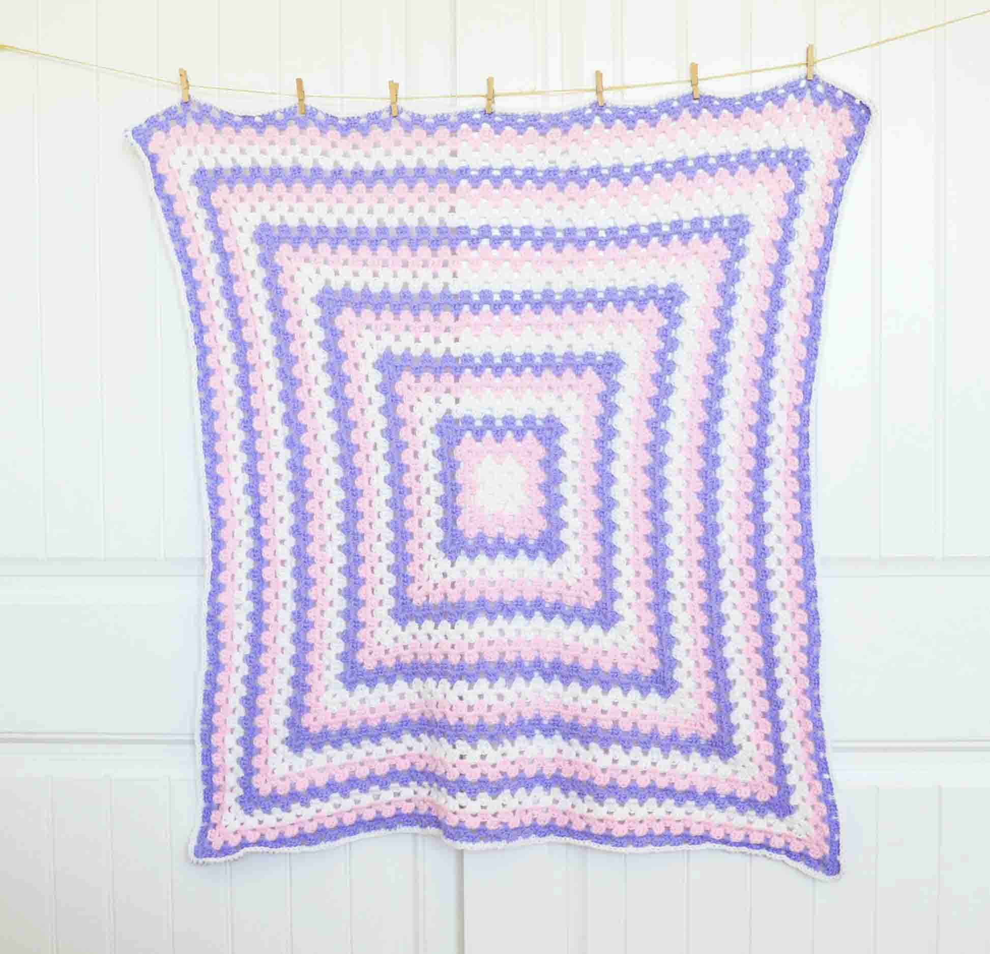 Granny square baby blanket free crochet pattern bankloansurffo Images