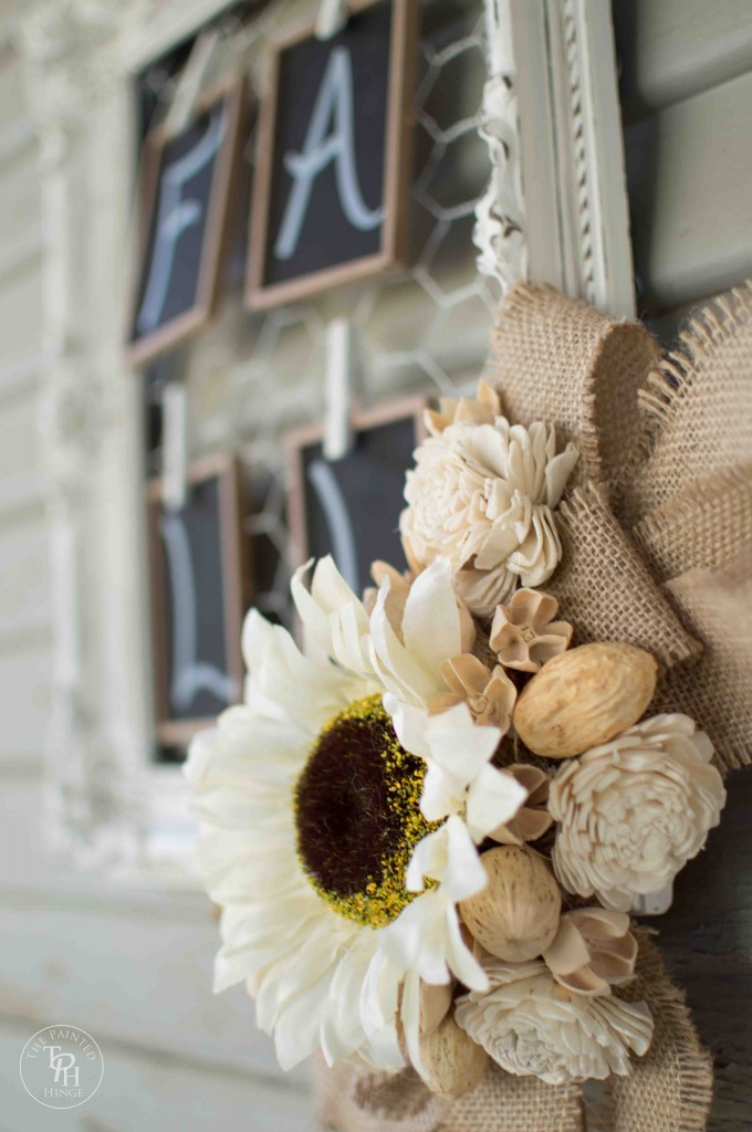 Shabby Chic Fall Wreath Tutorial