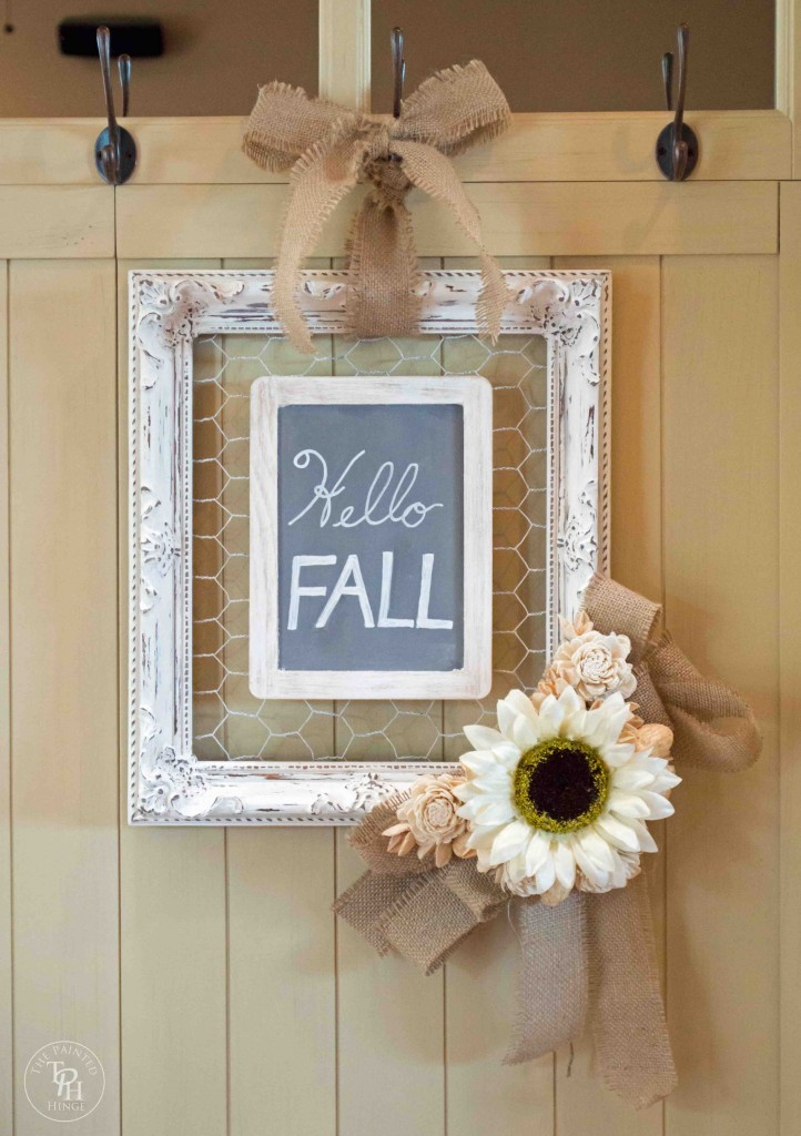 Shabby Chic Fall Entryway 2014