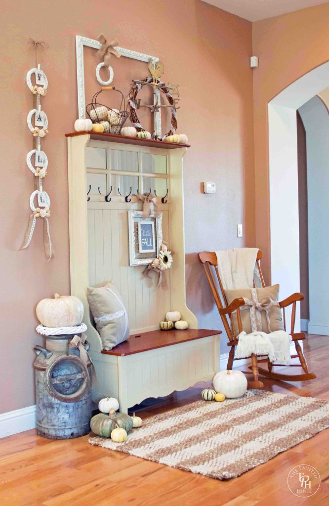 Shabby Chic Fall Entryway Bench