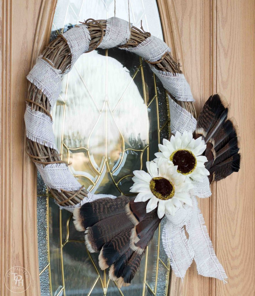 Turkey Feather Wreath Tutorial