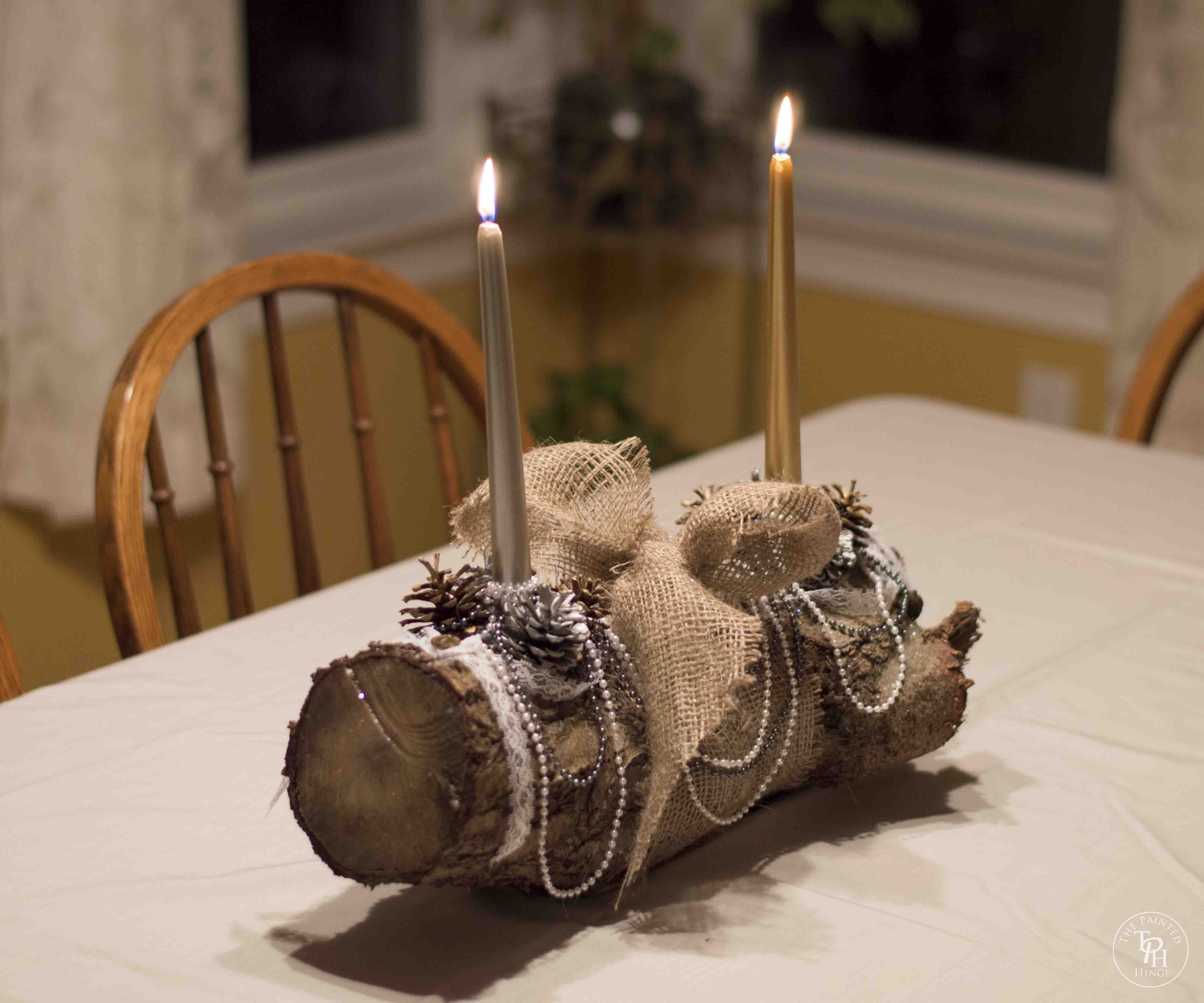 Shabby Chic Yule Log Tutorial