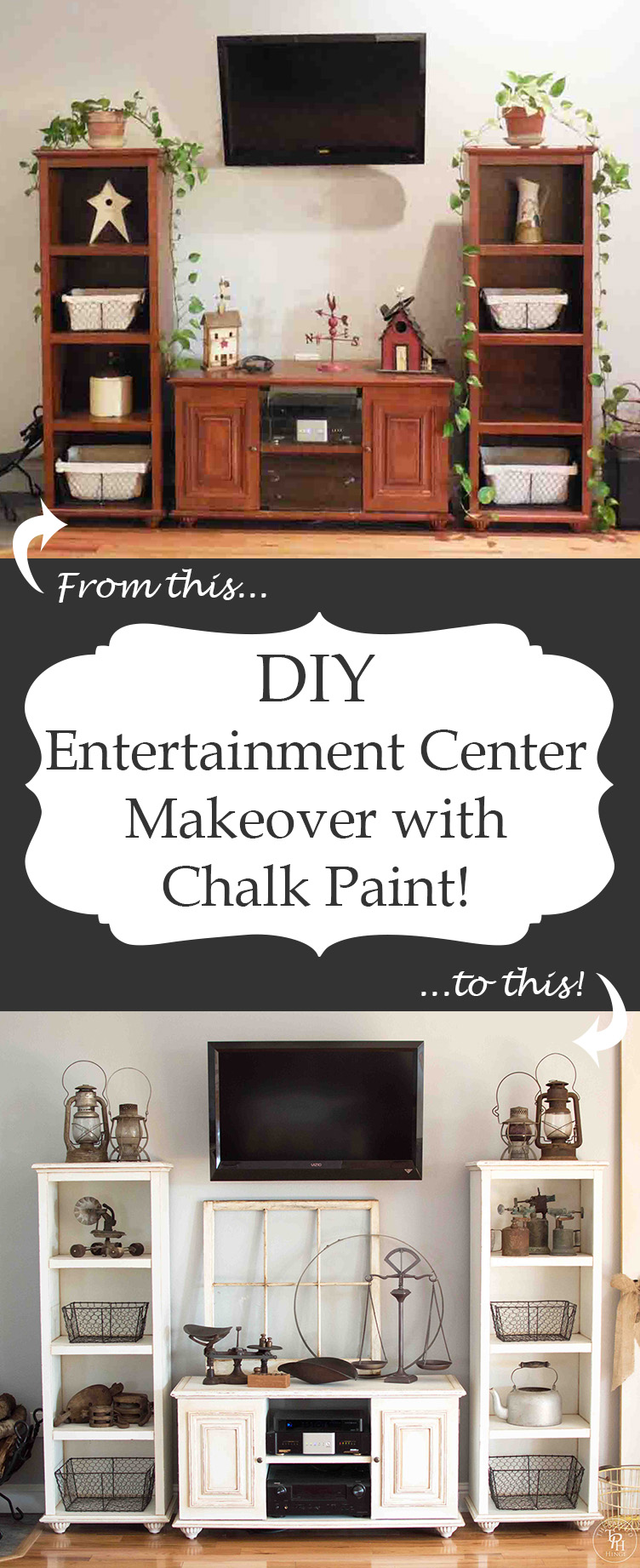 DIY Entertainment Center Makeover