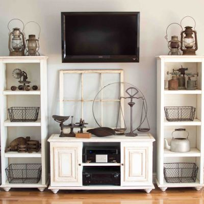 DIY Entertainment Center Makeover with Chalk Paint