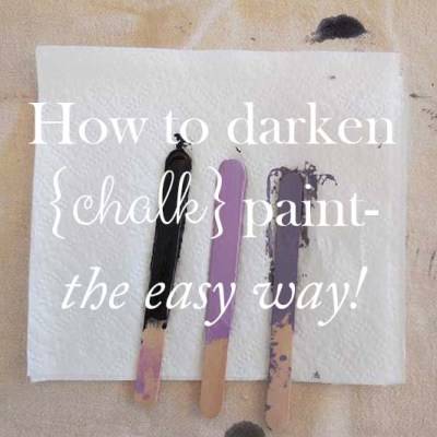 How To Darken Paint The Easy Way!