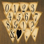 Free Printables Rustic Banner Letters – Now With Numbers, Symbols, and Punctuation!