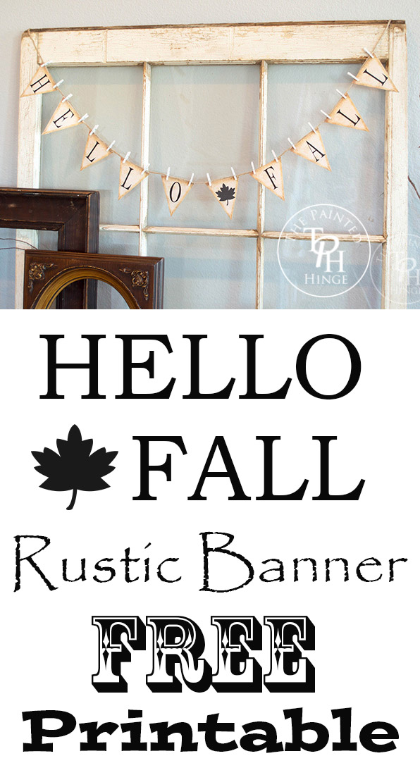 Hello Fall Rustic Banner Free Printable