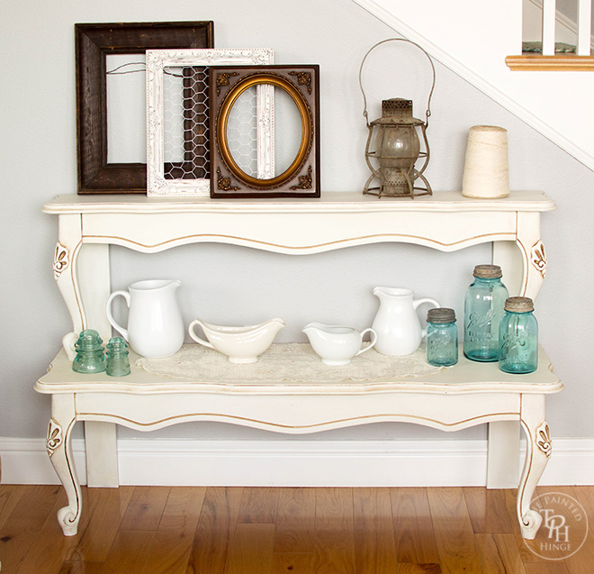Entryway Table From A Repurposed Coffee Table