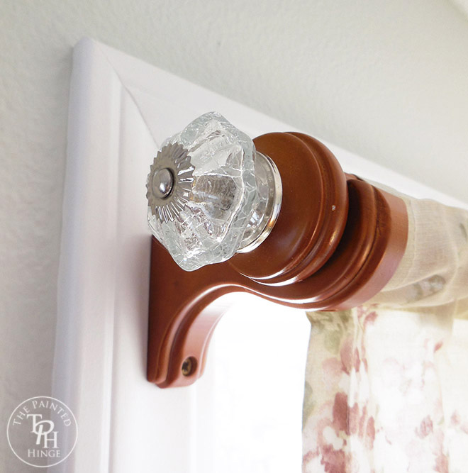 DIY Curtain Rod Makeover Using Drawer Pulls