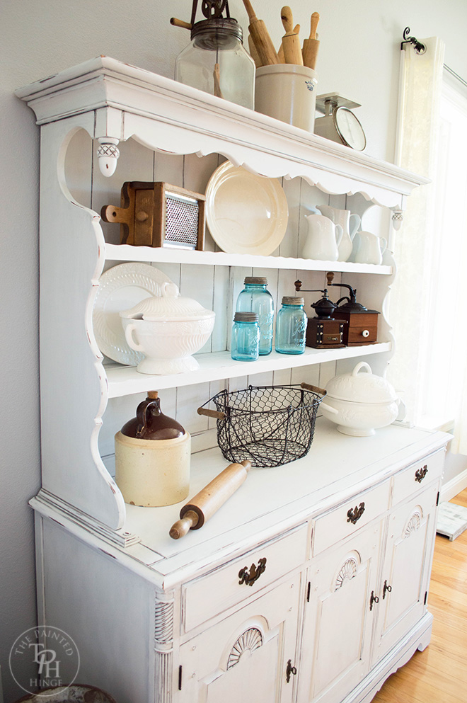 Farmhouse Hutch Makeover with Country Chic Paint