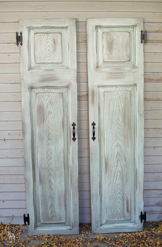 Decorative Metal Shutters For Living Room Interior Houston Tx: DIY Faux Window Shutters From A Repurposed Door