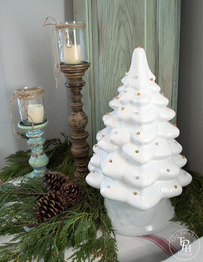 Ceramic Christmas Tree Upcycle