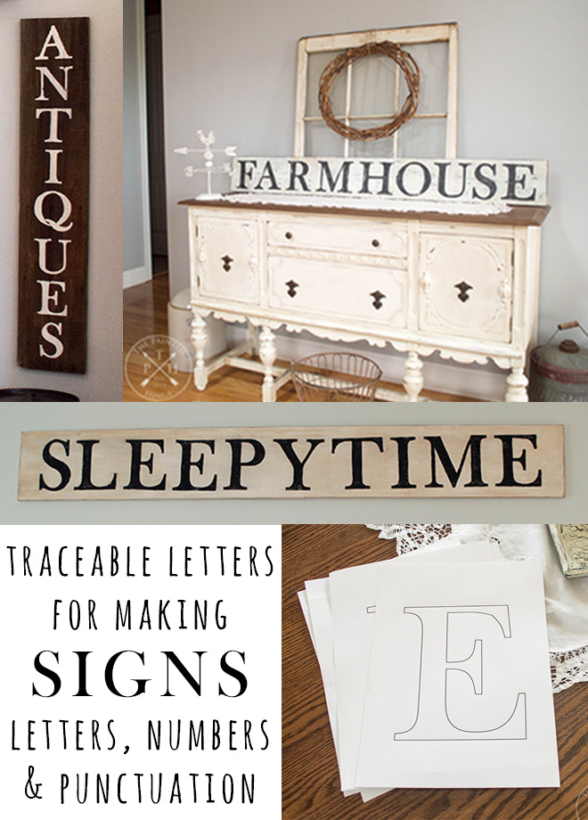 photo relating to Printable Letters for Signs referred to as Free of charge Printable Traceable Letters for Producing Farmhouse