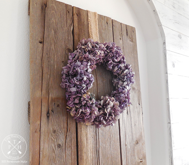 How To Make A Dried Hydrangea Flower Wreath