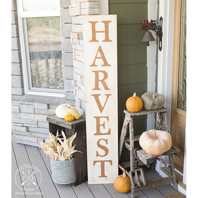 DIY Harvest Sign and Free Printable Letters