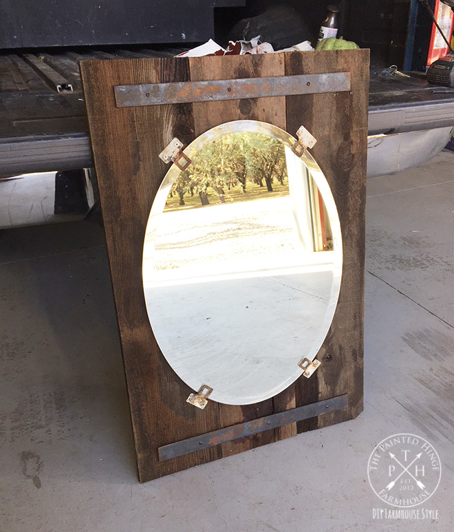 Cookie-cutter Mirror Gets A Farmhouse Style Makeover