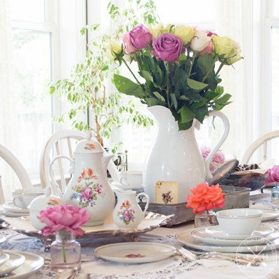 A Farmhouse Style Tea and Roses Party