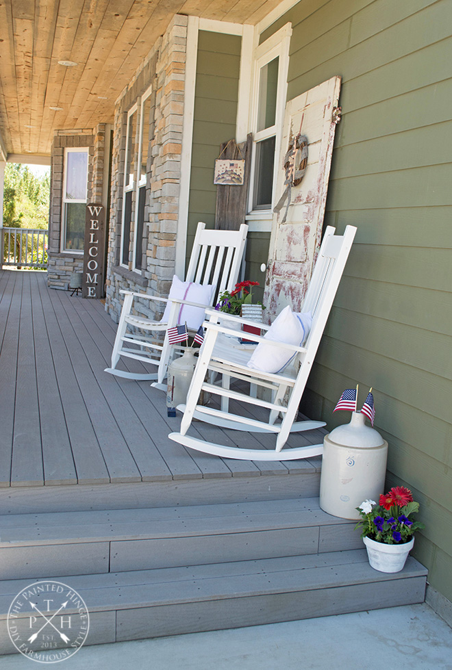 Farmhouse Patriotic Porch