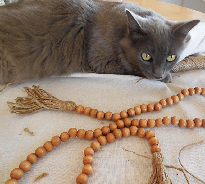 DIY Bead Garland for only $1.25!