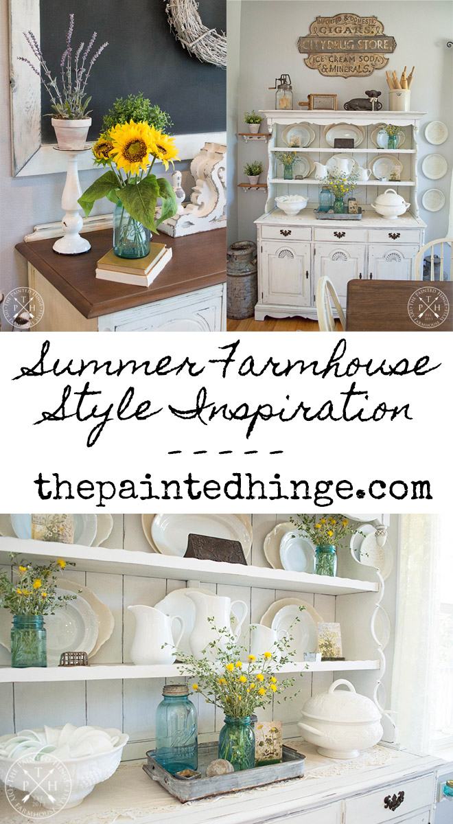 Summer Farmhouse Style Inspiration #summer #farmhouse #summerfarmhouse #summerfarmhousedecor #flowers #sunflowers #summerflowers #farmhousestyle #farmhousedecor
