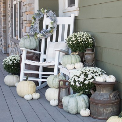 A Neutral Farmhouse Fall Porch