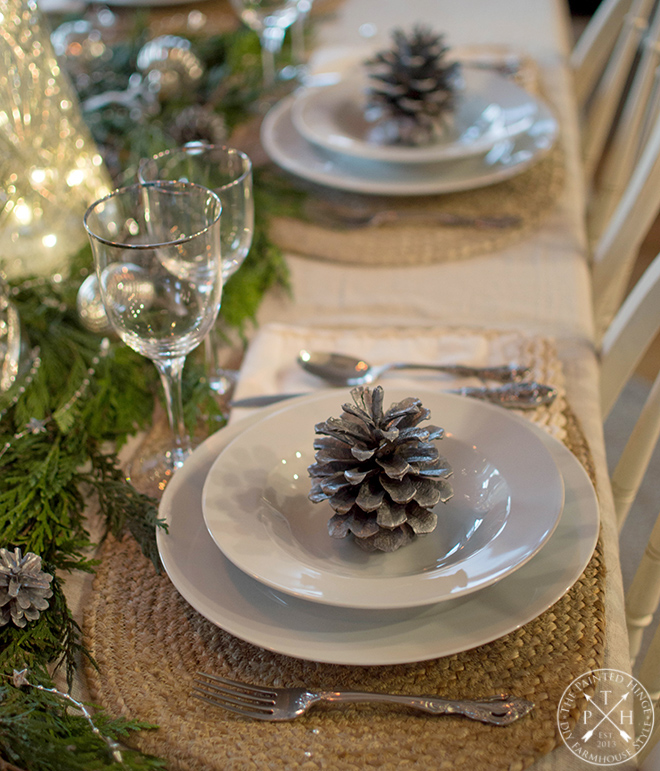 A Mercury Glass Holiday Tablescape