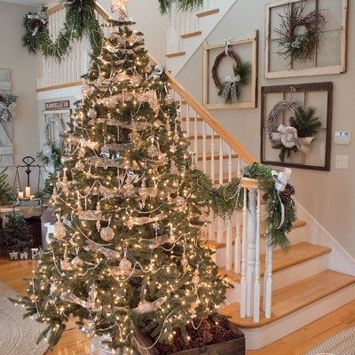 It's a Mercury Glass Christmas Home Tour