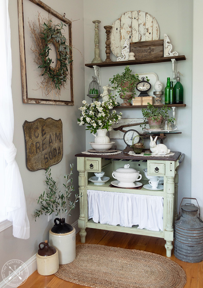 Farmhouse Easter Vignettes Home Tour
